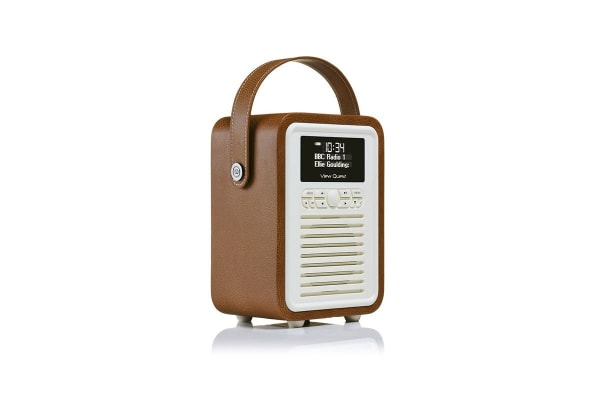 View Quest Retro Mini DAB+ Radio & Speaker - Brown (MINI-BR)