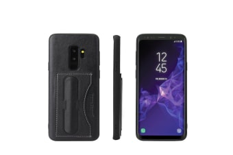 For Samsung Galaxy S9 Case Fierre Shann Luxury Durable Protective Cover Black