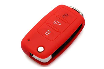 Protective Silicone Key Cover Keyless Entry Remote Fob Shell Red