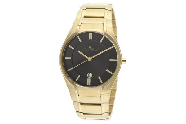 Lucien Piccard Men's Davos Black Dial Gold Tone Ion Plated Stainless Steel (LP-10607-YG-11)
