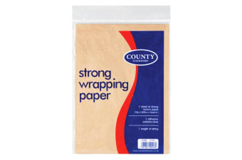 County Stationery Brown Parcel Wrapping Paper (Pack Of 36) (Brown)