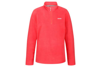 Regatta Great Outdoors Womens/Ladies Sweetheart 1/4 Zip Fleece Top (Fiery Coral) (16)