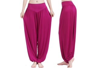 Womens Modal Cotton Soft Yoga Sports Dance Harem Pants  3XL