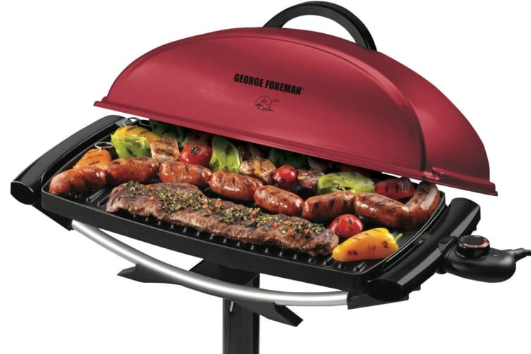George Foreman Indoor & Outdoor BBQ Grill (GGR201RAU)