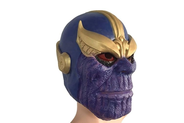 Thanos Masks Deluxe Cosplay Latex Party Mask Free Size Halloween Props