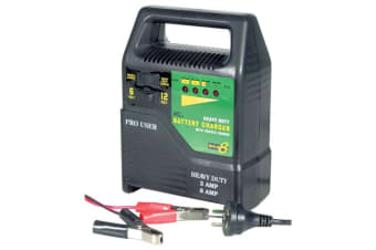 TechBrands 6V & 12V Heavy Duty 8A Car Battery Charger w/ Trickle Charge