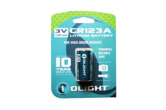 Olight 1500mah Cr123a Lithium-ion Battery With Paper Card