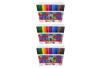 3x 20pc Texta The Original Smart Cone Tip Markers Water Based Kids Drawing Pens
