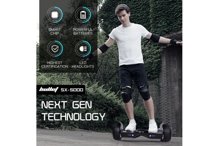 BULLET Hoverboard Scooter Off Road Balancing Electric All Terrain Skateboard