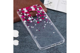 For Samsung Galaxy S9 PLUS Back Case Hearts Flower Durable Protective Cover