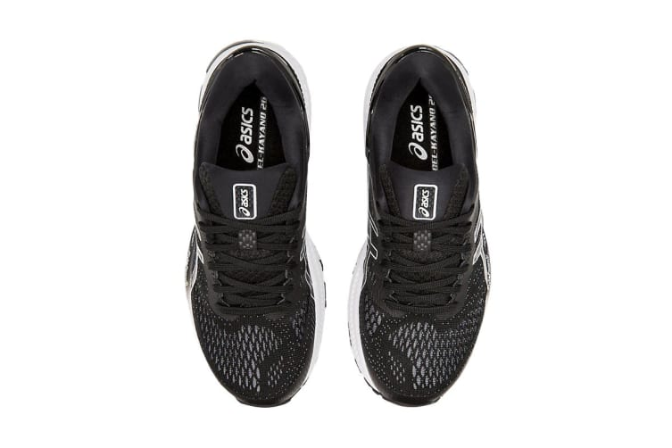 ASICS Women's Gel-Kayano 26 Running Shoe (Black/White, Size  9 US)