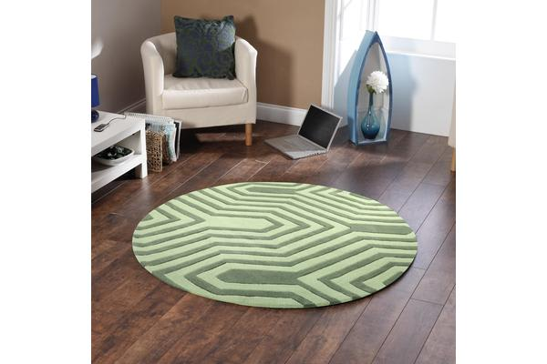 Circuit Board Green Rug 200x200cm