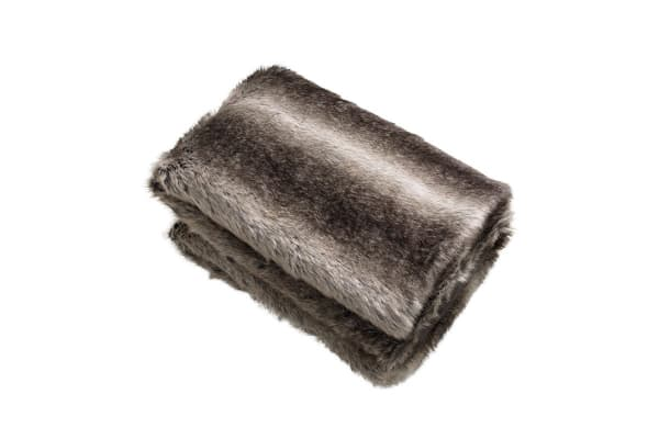 Bianca Wolf Faux Fur Throw Rug