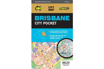 Brisbane City Pocket Map 460 23rd ed
