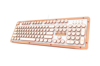 Azio RETRO CLASSIC Vintage Typewriter USB Backlit Mechanical Keyboard - Alloy