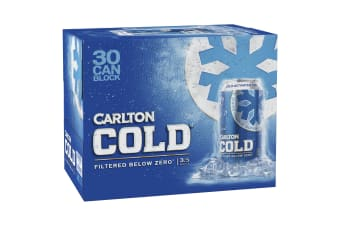 Carlton Cold Beer 30 x 375mL Cans