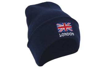 London England Unisex Knitted Hat (Navy)