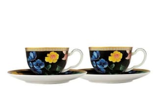 Maxwell & Williams Teas & C's Contessa Demi-Tasse Cup and Saucer 85ml Set of 2 Black