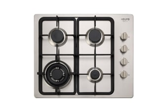 Euro Cooktop Gas 600mm Stainless Steel  EV3WCTSFD
