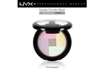 Nyx Mosaic Powder Blush Highlighter #Mpb01 Shimmering Pearl Base Colour