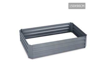 Galvanised Raised Garden Bed 150 x 90 x 30cm (Grey)