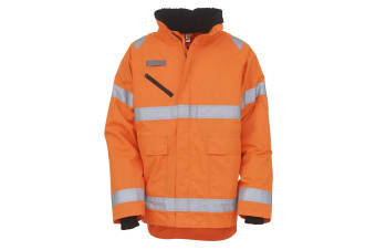 Yoko Unisex Hi-Vis Fontaine Storm Jacket (Orange) (M)