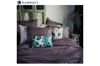 Purple Dusk Linen Cotton Quilt Cover Set by Bambury
