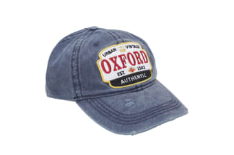 Oxford Unisex Adults Distressed Baseball Cap (Navy)