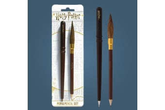 Harry Potter Wand Pen & Broom Pencil Set