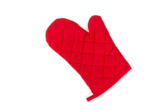 2Pcs Of Thickened Microwave Oven Gloves With High Temperature Resistance Red