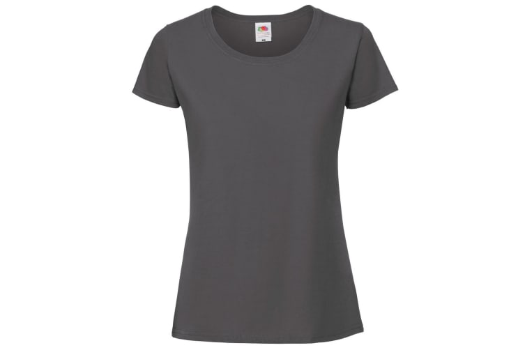 Fruit Of The Loom Womens/Ladies Ringspun Premium T-Shirt (Pencil Grey) (S)