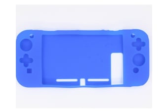 Anti-Scratch Back Case For Nintendo Switch Ergonomic Accessories Skin With Joy-Con & Thumb Grips Blue