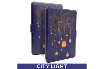Quality Colorful Painting Leather Cover for Kindle Paperwhite 1/2/3-City light