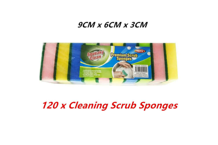 120 x Cleaning Scrub Sponge Kitchen Cook Dish Washer Durable Pot Restaurant Commercial