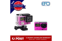H3 Waterproof Dual Lcd Screen Uhd 4K Wifi Hdmi Sport Action Pro Camera Pink