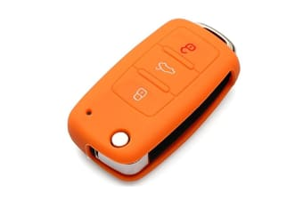 Protective Silicone Key Cover Keyless Entry Remote Fob Shell Orange