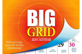 Big Grid - 2020 Rectangle Wall Calendar 16 Months by Bartel (B)