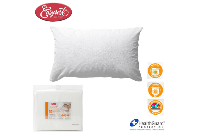 Cotton Terry Waterproof Standard Pillow Protector by Easyrest