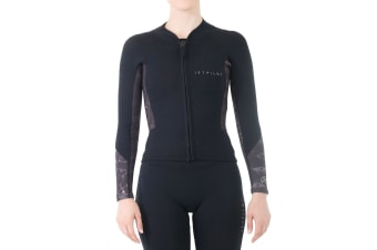 JetPilot Bec Ascent Ladies Long Sleeve 2mm Jacket - Black - 12