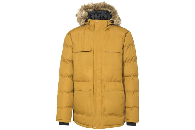 Trespass Mens Baldwin Padded Waterproof Jacket (Golden Brown) (XL)