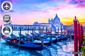 ITALY & GREECE: 20 Day Highlights of Italy and Greece Tour with 7 Night Cruise Including Flights for Two