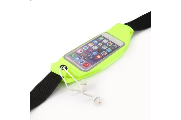 Universal Waist Bag Sporty Durable Sweat-proof 4.7-inch Smartphone Pouch Green