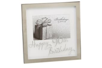 Widdop Birthdays By Juliana Happy 90th Birthday 6x4 Inch Mirror Print Box Frame (Silver) (One Size)