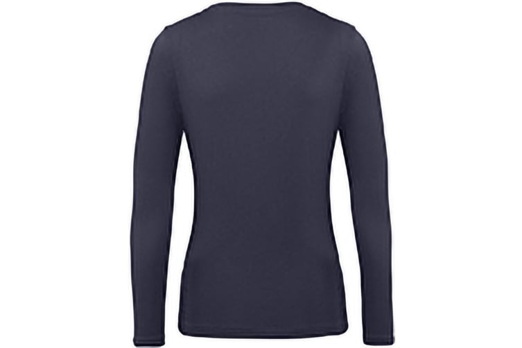B&C Womens/Ladies Inspire Long Sleeve Tee (Urban Navy) (M)