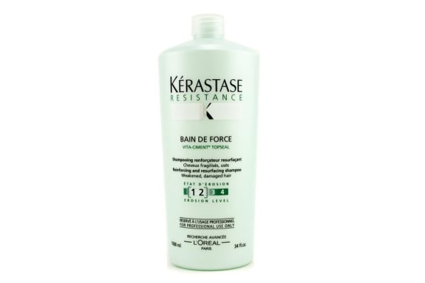 Kerastase Resistance Bain De Force Reinforcing And Resurfacing Shampoo (Weakened, Damaged Hair) (1000ml/34oz)