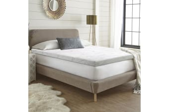 Giselle Memory Foam Mattress Topper Queen Bed Bamboo Cover 7cm Underlay