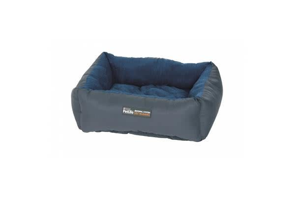 Petlife Self Warm Cuddle Bed Blue Charcoal - Large