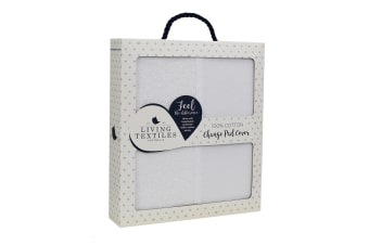 Living Textiles Jersey Change Pad Cover White/Towelling