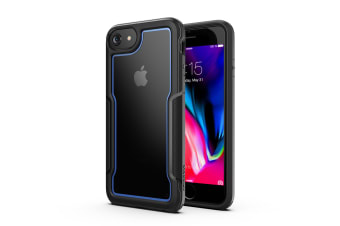 MAXSHIELD Slim Clear Heavy Duty ShockProof Case for iPhone 6/6s/7/8-Blue