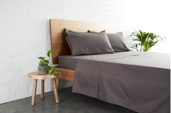 Jamie Durie By Ardor 225TC Bamboo & Cotton Sheet Set (Charcoal)